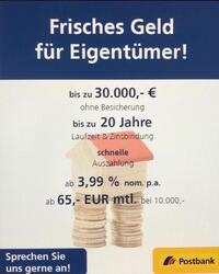 Bild des Angebots Frisches Geld für Eigenheimbesitzer