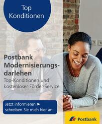 Bild des Angebots Postbank Modernisierungsdarlehen