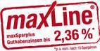 Bild des Angebots maxSparPlus bis zu 2,36% Guthabenzinsen
