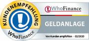Siegel für die besten Anbieter für Geldanlage in Deutschland 2020