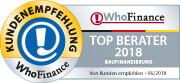 Siegel für die Top 400 Berater für Baufinanzierung in Deutschland