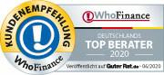 Siegel für die Top Berater Deutschlands 2020 aus Kundensicht
