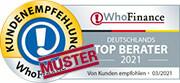 Siegel für die besten Berater Deutschlands 2020