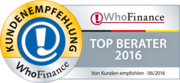 Top Berater 2016 Siegel