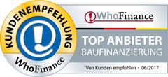 Siegel für die besten Anbieter Baufinanzierung 2017