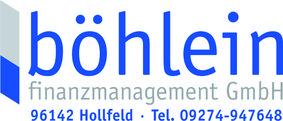 Logo der böhlein finanzmanagement GmbH von  Hannes Böhlein